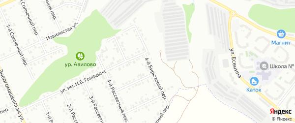 Бирюзовый 4-й переулок на карте Белгорода с номерами домов