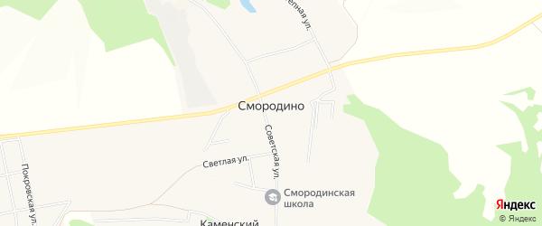 Карта села Смородино в Белгородской области с улицами и номерами домов