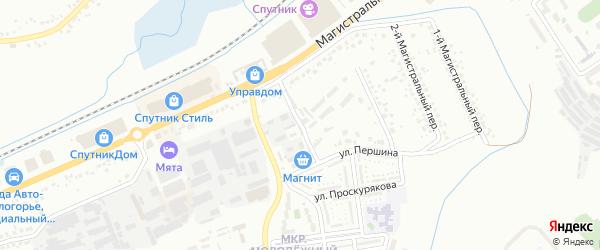 Магистральный 4-й переулок на карте Белгорода с номерами домов