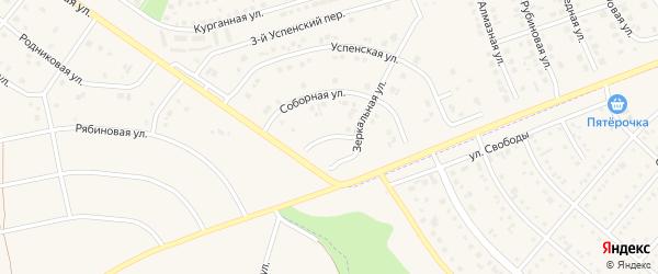 Казанская улица на карте поселка Дубового с номерами домов