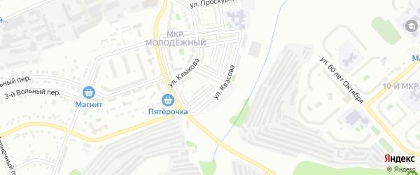Строительный 2-й проезд на карте Белгорода с номерами домов