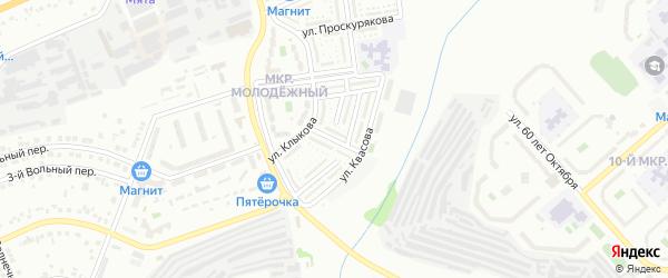 Архитектурный переулок на карте Белгорода с номерами домов