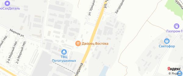 Улица Чичерина на карте Белгорода с номерами домов