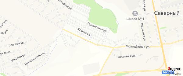 СТ Разведчик недр на карте Северного поселка с номерами домов