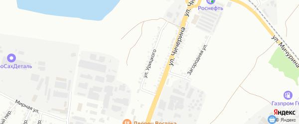 Улица Урицкого на карте Белгорода с номерами домов