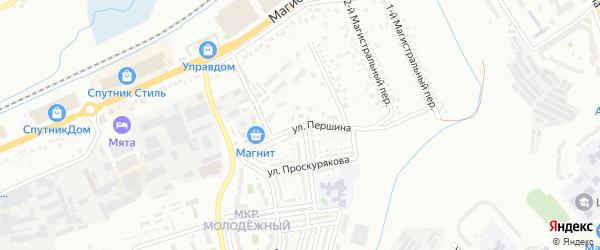Улица Першина на карте Белгорода с номерами домов