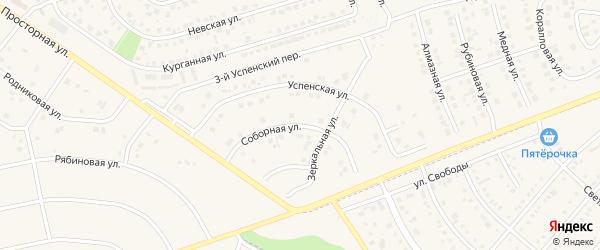Соборная улица на карте поселка Дубового с номерами домов