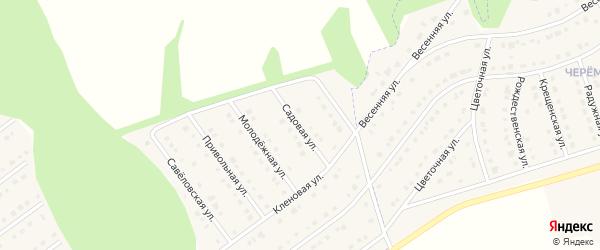 Садовая улица на карте села Новой Нелидовки с номерами домов