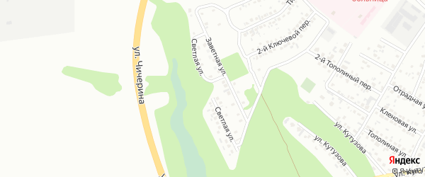 Светлая улица на карте Стрелецкого села с номерами домов