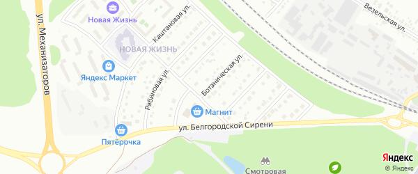 Ботаническая улица на карте Белгорода с номерами домов
