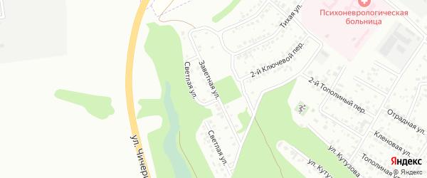 Заветная улица на карте Белгорода с номерами домов