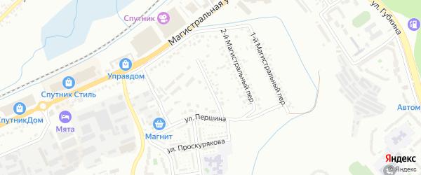 Магистральный 3-й переулок на карте Белгорода с номерами домов