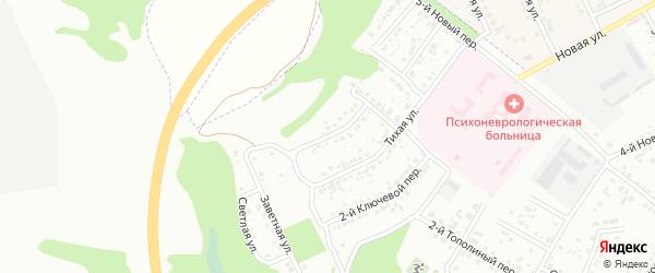 Ключевой 1-й переулок на карте Белгорода с номерами домов