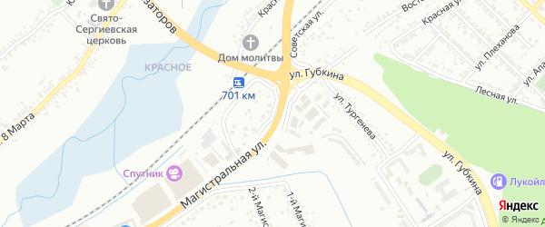 Советский переулок на карте Белгорода с номерами домов