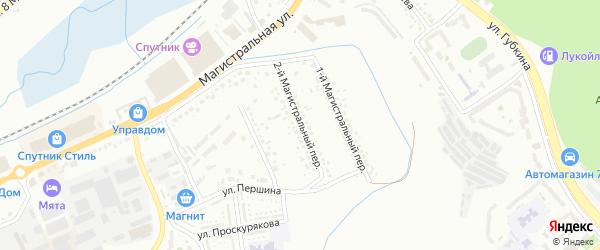Магистральный 2-й переулок на карте Белгорода с номерами домов