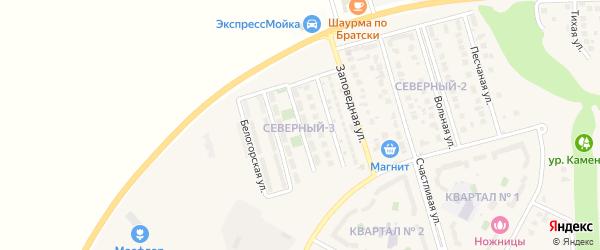 Бульварная улица на карте поселка Дубового с номерами домов