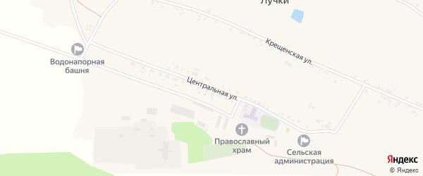 Центральная улица на карте села Лучки с номерами домов