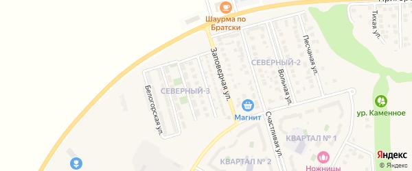 Городская улица на карте поселка Дубового с номерами домов