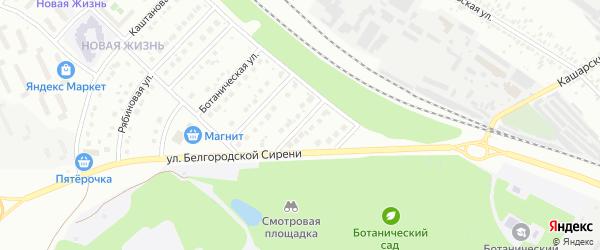 Ботанический 2-й переулок на карте Белгорода с номерами домов