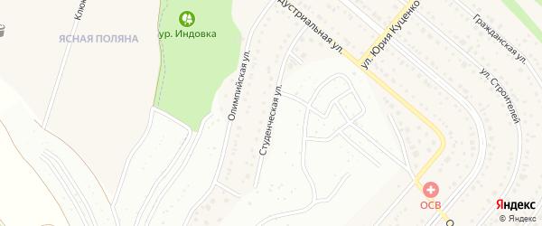 Студенческая улица на карте Таврово 6-й микрорайона с номерами домов