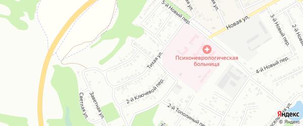 Дальняя Тихая улица на карте Белгорода с номерами домов