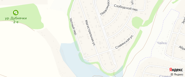 Магистральная улица на карте Таврово 6-й микрорайона с номерами домов