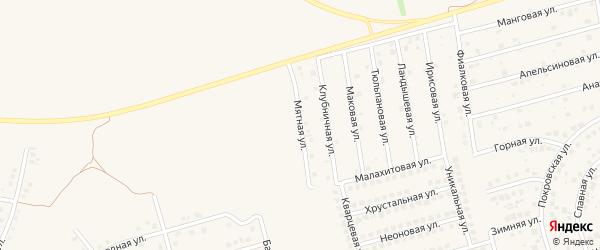 Мятная улица на карте поселка Дубового с номерами домов