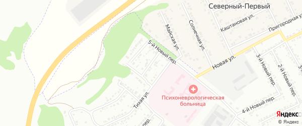 Тенистый 1-й переулок на карте Белгорода с номерами домов