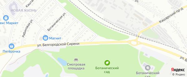 Ботанический 3-й переулок на карте Белгорода с номерами домов