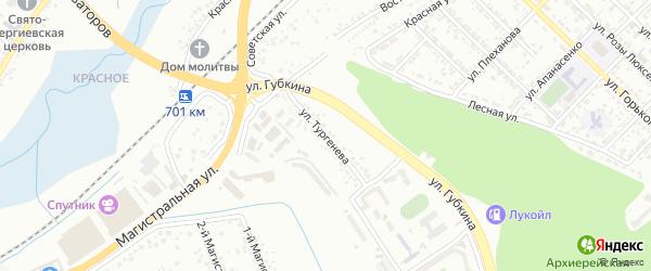 Улица Тургенева на карте Белгорода с номерами домов
