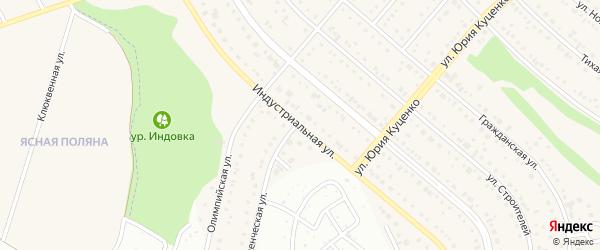 Индустриальная улица на карте Таврово 7-й микрорайона с номерами домов