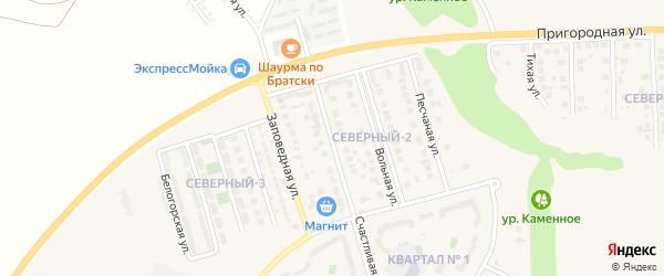 Урожайная улица на карте поселка Дубового с номерами домов