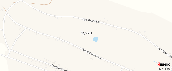Улица Авдеева на карте села Лучки с номерами домов