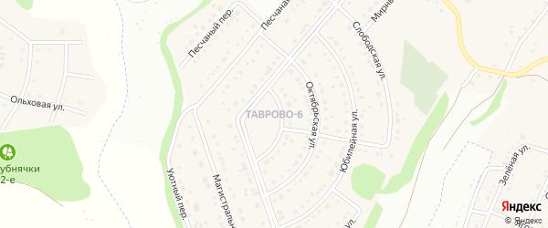Олимпийский переулок на карте Таврово 6-й микрорайона с номерами домов