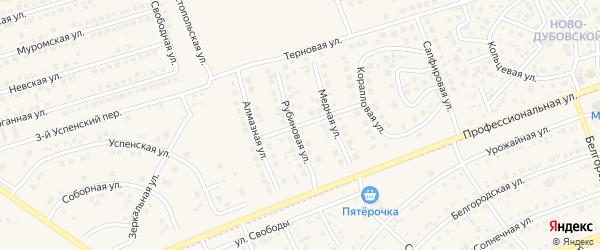 Алмазная улица на карте поселка Дубового с номерами домов