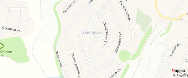 Первомайская улица на карте Таврово 6-й микрорайона с номерами домов