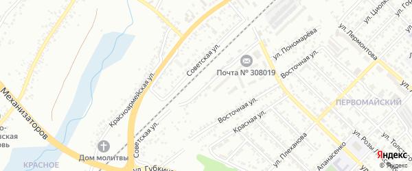 Советская улица на карте Белгорода с номерами домов