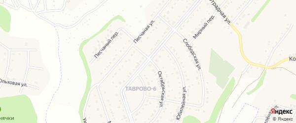 Мирная улица на карте Таврово 6-й микрорайона с номерами домов