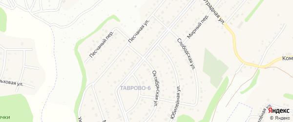 Октябрьская улица на карте Таврово 6-й микрорайона с номерами домов