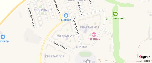 Счастливая улица на карте поселка Дубового с номерами домов