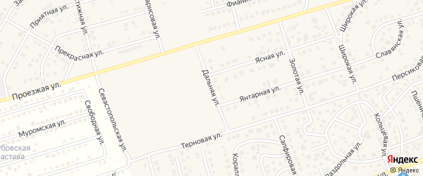 Дальняя улица на карте поселка Дубового с номерами домов