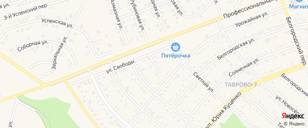 Урожайный переулок на карте Таврово 7-й микрорайона с номерами домов