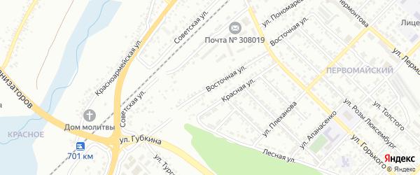 Восточная улица на карте Белгорода с номерами домов