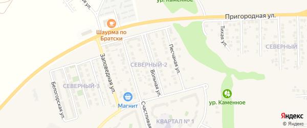 Вольная улица на карте поселка Дубового с номерами домов