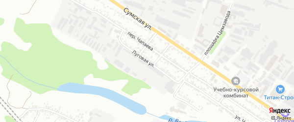 Луговая улица на карте Белгорода с номерами домов