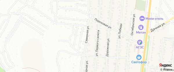 Северная улица на карте Северного поселка с номерами домов