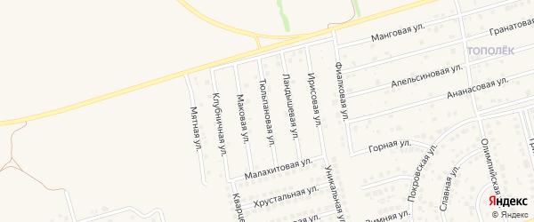 Тюльпановая улица на карте поселка Дубового с номерами домов