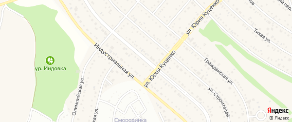Спортивная улица на карте Таврово 7-й микрорайона с номерами домов