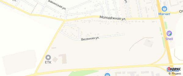 Весенняя улица на карте Северного поселка с номерами домов