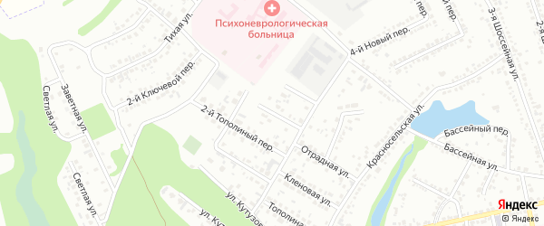 Тополиный 3-й переулок на карте Белгорода с номерами домов